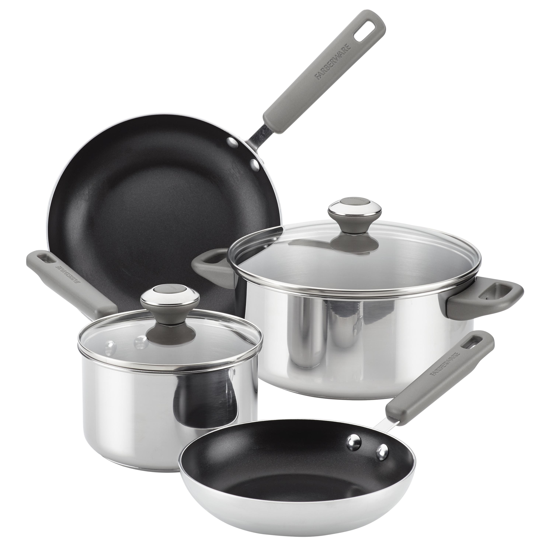 Farberware Stainless Steel Kitchen 6 Piece Cookware Set Walmart Com