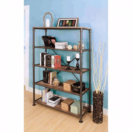 PippaS 5 Tier Metal Bookshelf