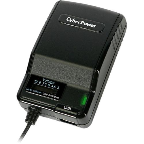 CyberPower CPUAC1U1300 1300mA Universal Power Adapter with USB 2.1 Quick Charge