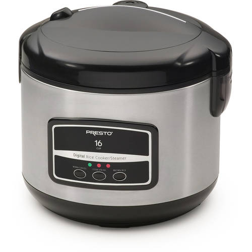 Presto Digital Stainless Steel Rice Cooker/Steamer