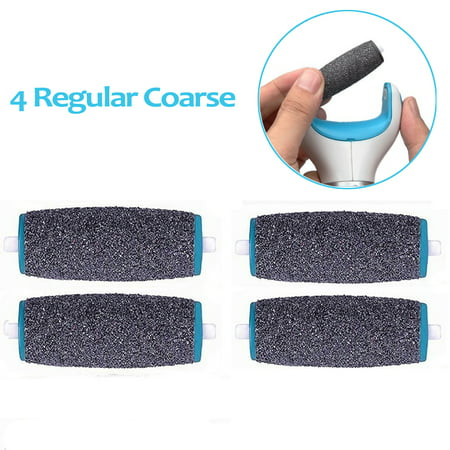 4Pcs Perfect Electronic Foot File Refills, Regular Coarse Replacement Refill Roller for Daily Maintenance