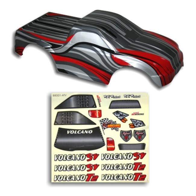 Redcat Racing 88022RS . 10 Truck Body Red and Silver