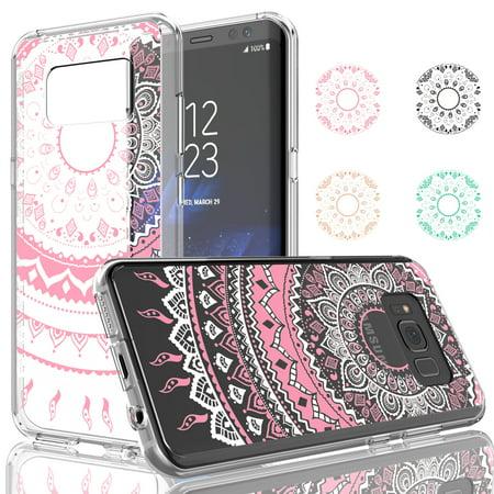 buy popular 4144c f047d Galaxy S8 / S8 Plus Case, Samsung S8 Case For Girls, Njjex [Hot Pink]  Transparent Cute Clear Hard TPU Scratch-Proof Bumper Cover Cases