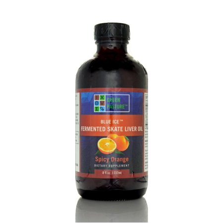 Blue Ice Fermented Skate Liver Oil, Spicy Orange 8 fl