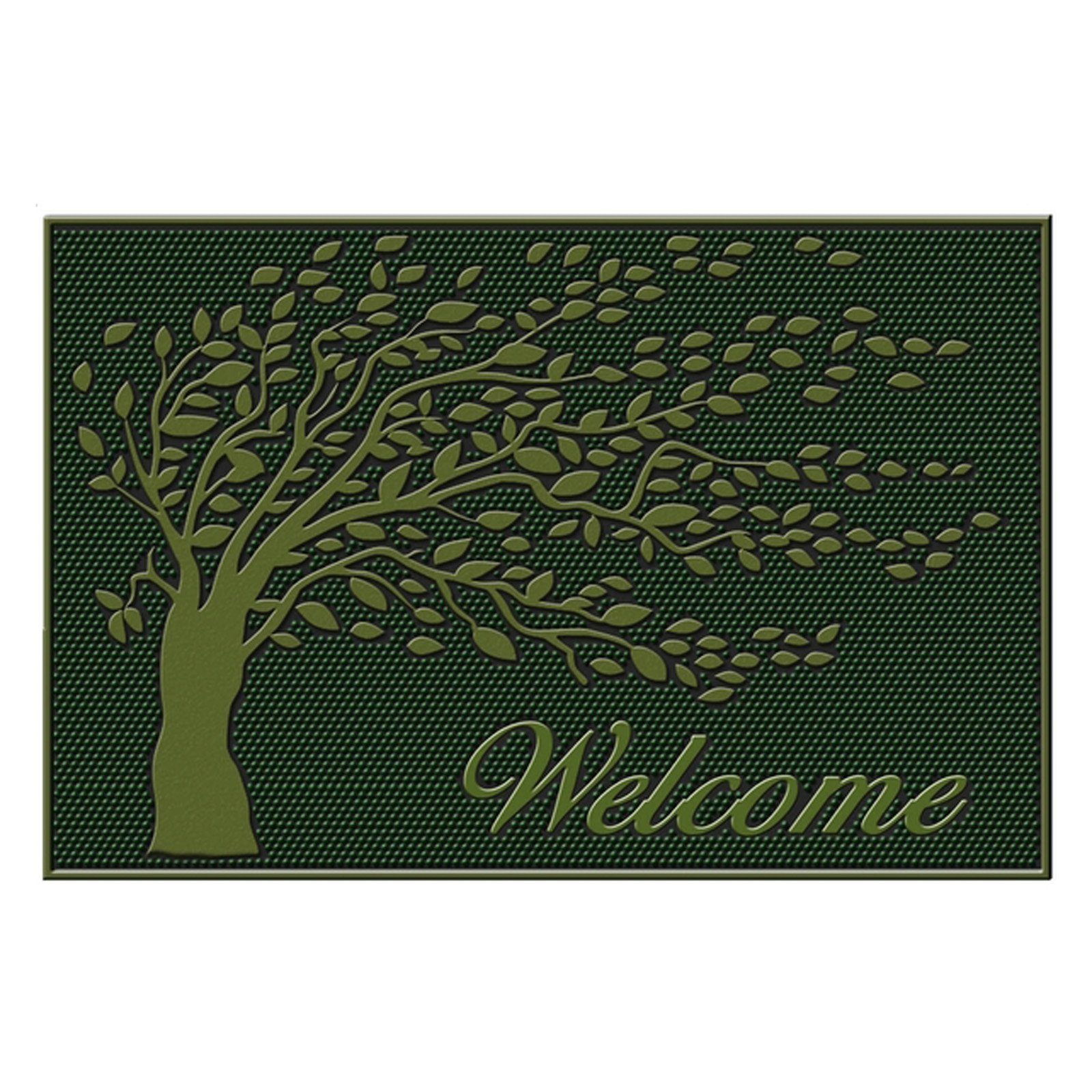 First Impression Shredding Leaves Welcome Door Mat