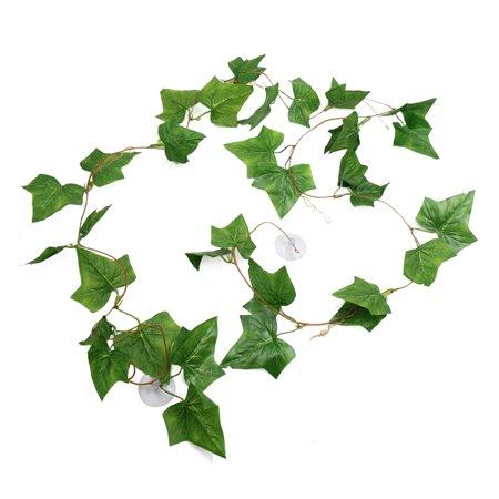 Green Plastic Lifelike Plant Vines Terrarium Plants Reptiles Habitat Decor (Plastic Reptiles)