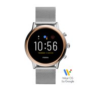 Fossil 5th Generation Julianna HR Smartwatch - Stainless Steel Mesh - Powered with Wear OS by Google