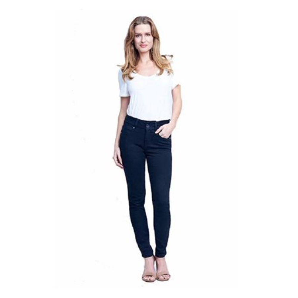 Seven7 Womens Mid Rise Signature Skiny with Hook /& Eye