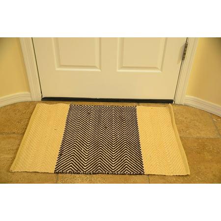 Bath Rug 2x3 Ft Area Rugs Beige Bathmat Doormat Living