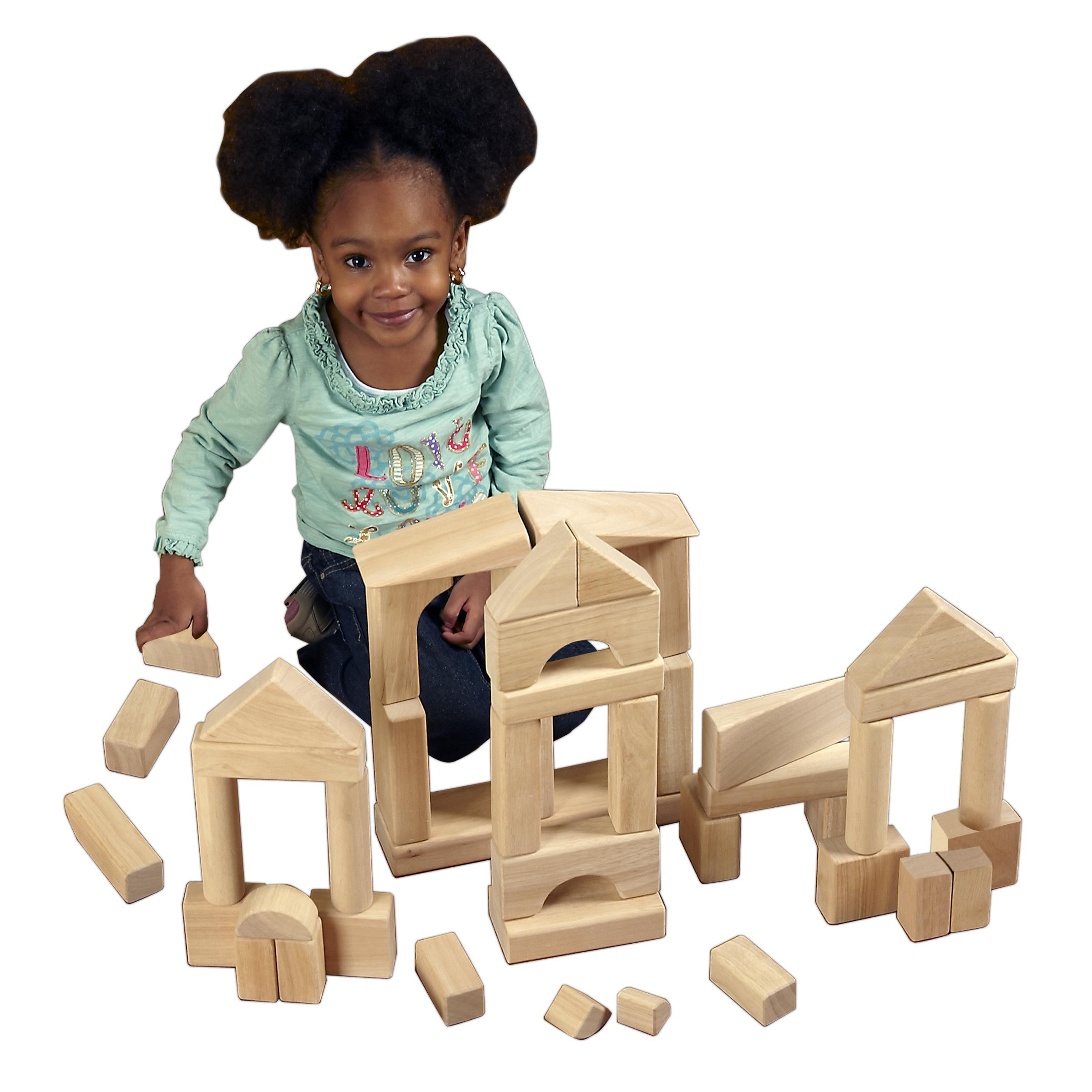 ECR4KIDS Hardwood Unit Building Blocks - Set of 75