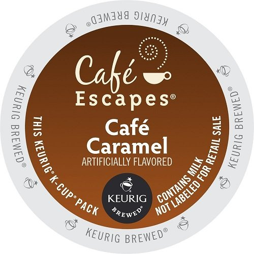 Cafe Escapes Cafe K-Cups, Caramel, 96 Count