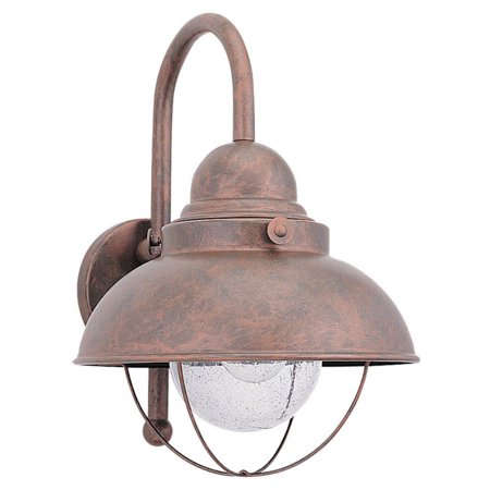 Aged Copper Outdoor Wall Light - Sea Gull Sebring Outdoor Hanging Wall Light - 15.75H in. Weathered Copper