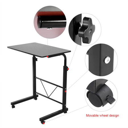 Tmishion laptop tableheight adjustable laptop computer table tmishion laptop tableheight adjustable laptop computer table standing desk movable sofa bedside cart tray watchthetrailerfo