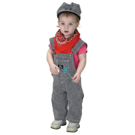Infant Train Engineer Costume With Cap](Oregon Trail Costume)