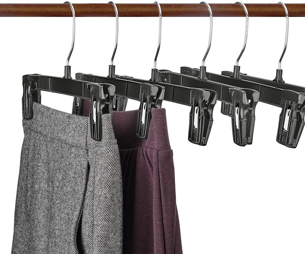 100-Pack Basics Plastic Clothes Hanger with Non-Slip Pad