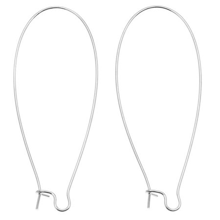 Silver Plated Earring Hooks Kidney Wires 47mm (10 -
