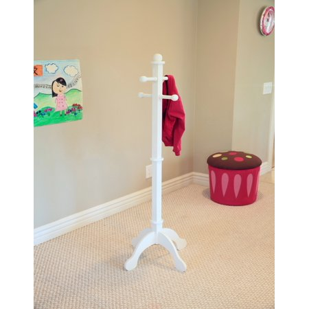 Home Craft Kids' Multi-Use Coat Rack, White