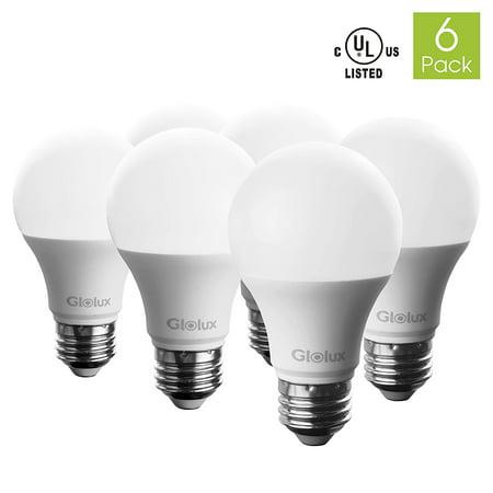 Glolux a19 non dimmable led light bulb 75 watt equivalent e26 base daylight