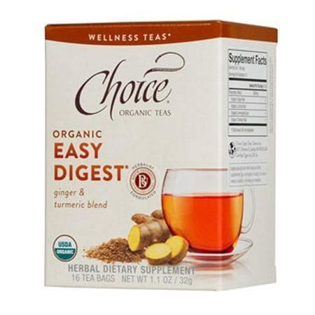 Choice Organic Teas - Easy Organic Digest Thé - 16 Sacs - cas de 6