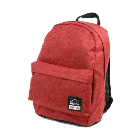 Scarlet Womens Backpack - Alpine Swiss Midterm Backpack School Bag Bookbag Daypack 1 Yr Warranty Back Pack