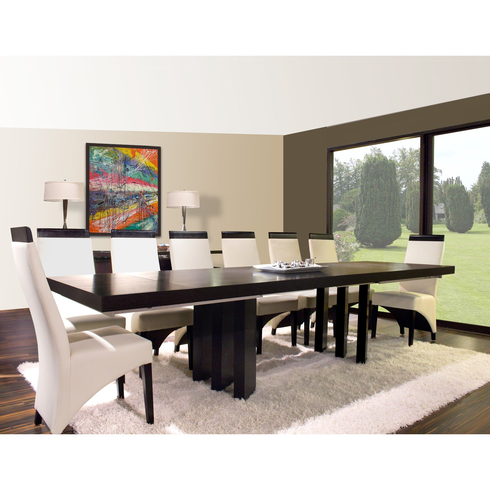 Verona Rectangular Extension Dining Table - Wenge