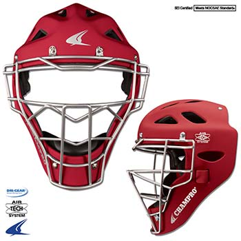 Champro Rubberized Matte Finish Pro-Plus Catcher's Headge...