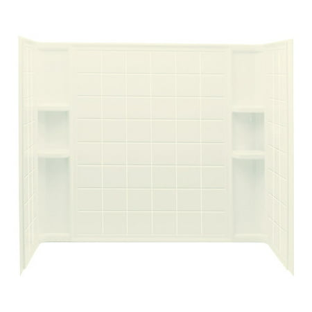 Sterling Ensemble 7112 3-Piece Tile Surface Shower Wall Kit, 60 in L X 33-1/4 in W X 54 in H