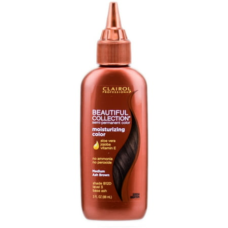 Clairol Professional Beautiful Collection Semi-permanent Hair Color, Medium Ash Brown B12D, 3
