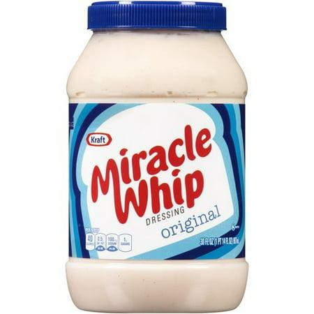 Kraft Miracle Whip Original Dressing, 30 fl oz - Walmart.com  Kraft Miracle W...