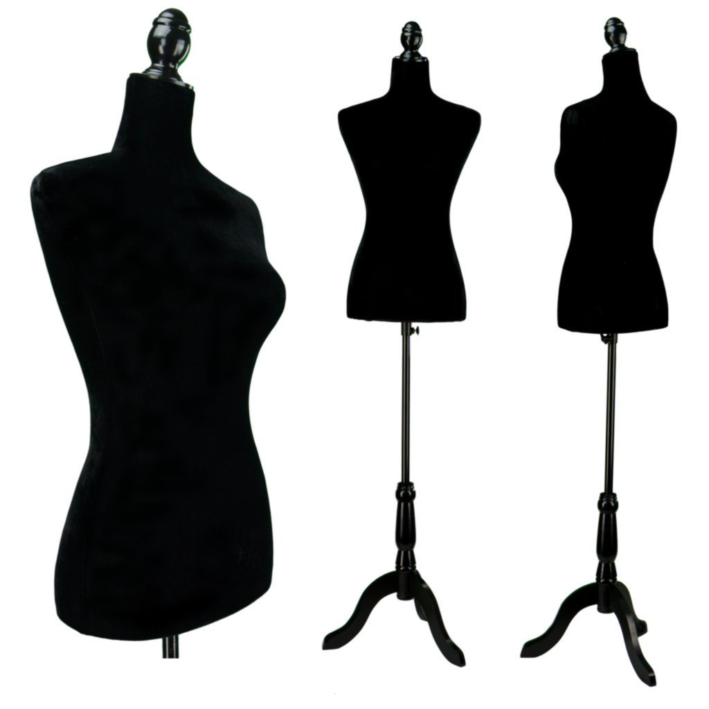 Ktaxon Female Mannequin Torso Clothing Dress Form Display Sewing Mannequin W/ Tripod Stand