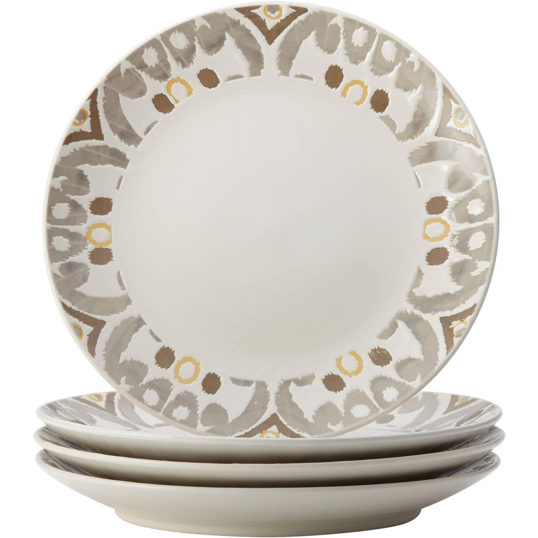 Rachael Ray Ikat Stoneware Dinnerware Set 16-Piece Yellow/Gray - Walmart.com  sc 1 st  Walmart.com & Rachael Ray Ikat Stoneware Dinnerware Set 16-Piece Yellow/Gray ...