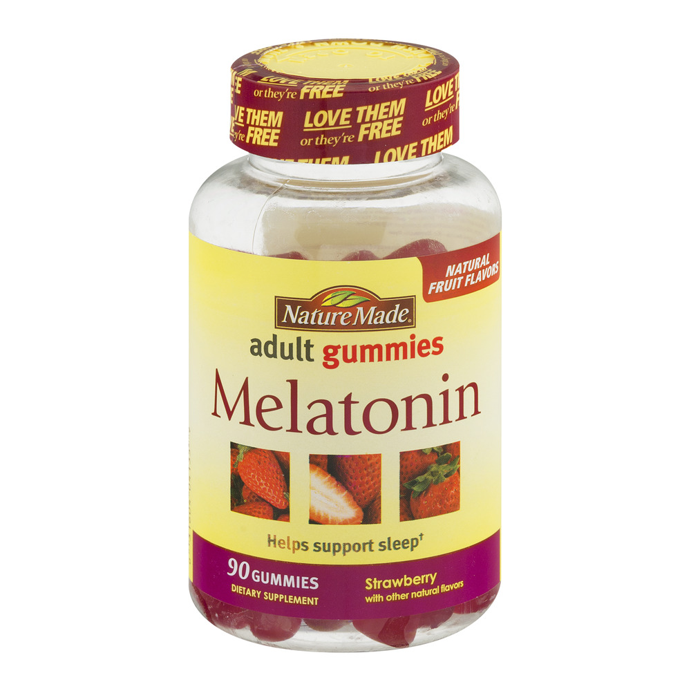 Nature Made Adult Gummies Melatonin Strawberry Flavor - 90 CT