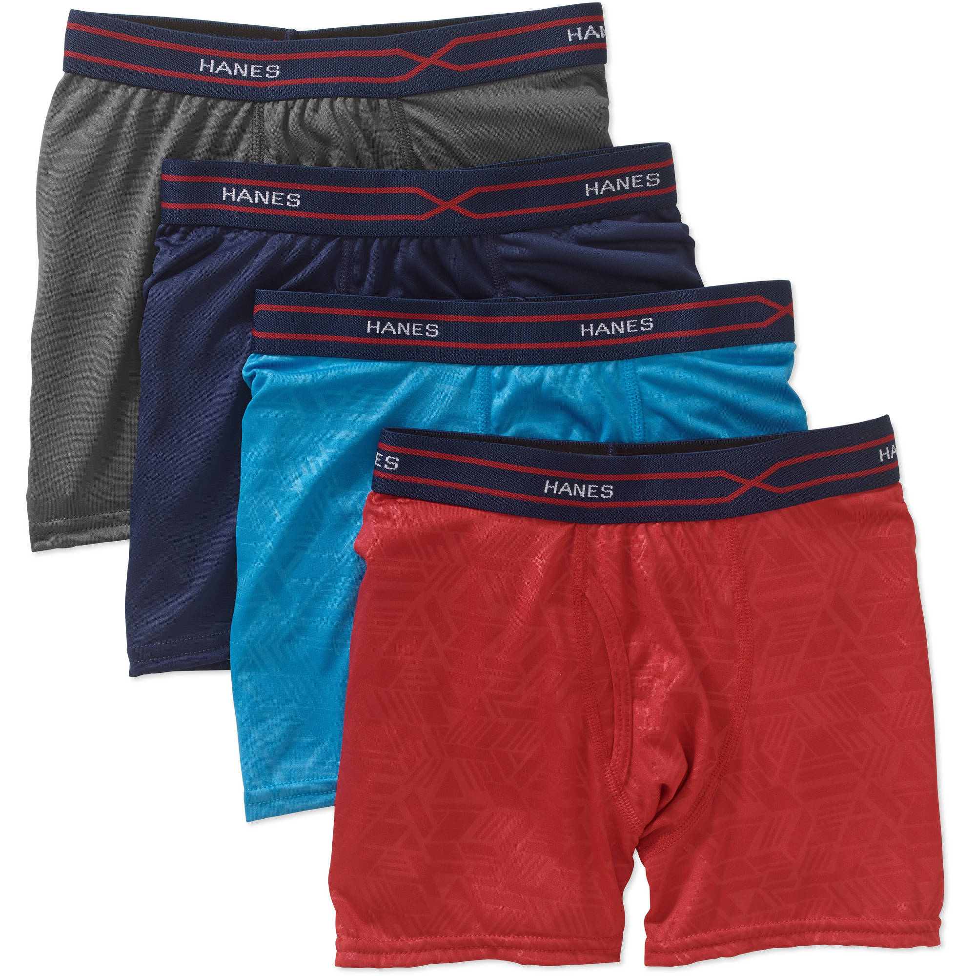 Boys' X-Temp Performance Cool Embossed Boxer Brief, 4 Pack