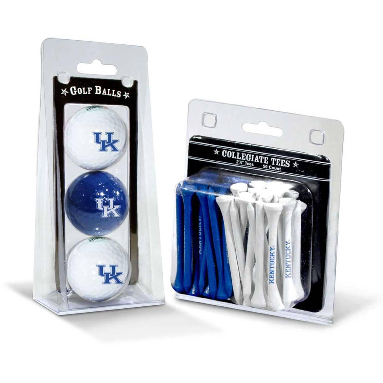 Team Golf NCAA 3 Ball and 50 Tee Set, University of Kentucky Wildcats