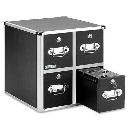 Vaultz, IDEVZ01049, Disc Locking CD/DVD Cabinets, 1 Each, Black