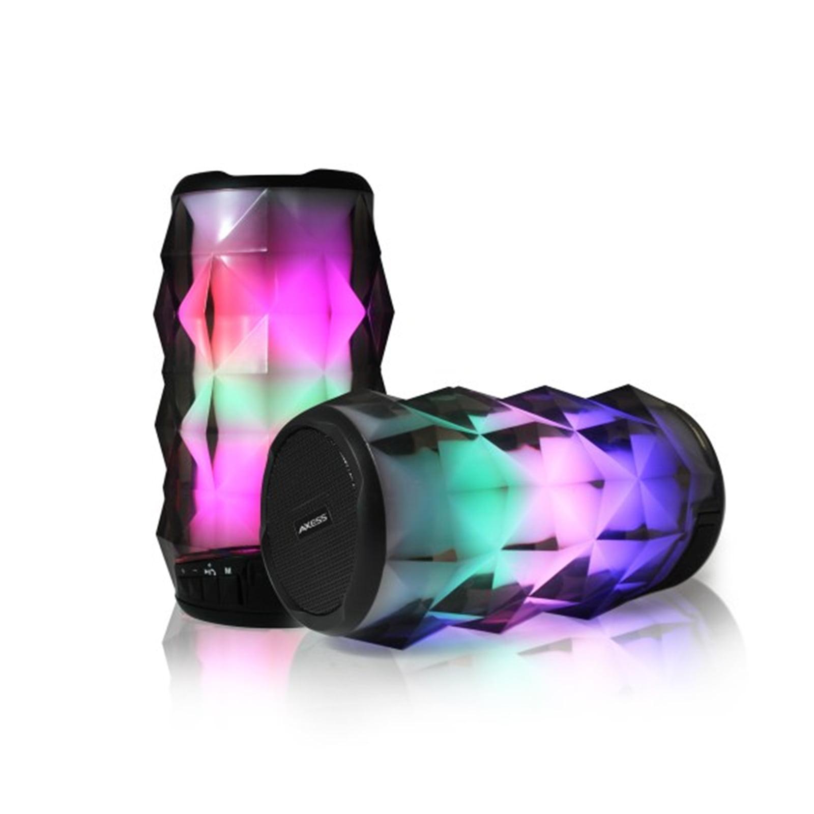 Axess Crystal Vibe LED BT Speaker