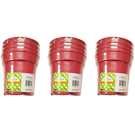 Set of 12 Small Round Biodegradable Bamboo Fiber Planters (Pink)](Pink Bamboo)