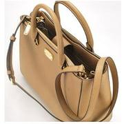 Michael Kors Kellen Medium Satchel Acorn Leather Handbag (35S6GSOT2L)