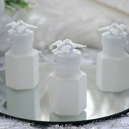BalsaCircle 24 pcs 0.6 oz White Doves Bubble Favors - Wedding Party Event Gifts Decorations Cheap Accessories Supplies Wholesale