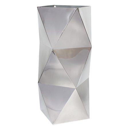 Gold Leaf Design Group Polygon Floor Pedestal Stainless Steel Pot