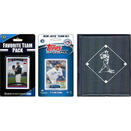 C & I Collectables 2012JAYSTSC MLB Toronto Blue Jays Licensed 2012 Topps Team Set and Favorite Player Trading Cards Plus Storage Album (Blue Baseball Player)