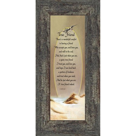 - A True Friend, Best Friends Frame, Friendship Gifts, 6x12 7733