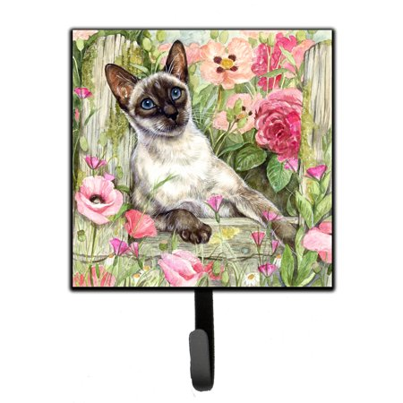 Ring Holder Siamese Cat (Siamese cat in the Roses Leash or Key Holder CDCO0033SH4)