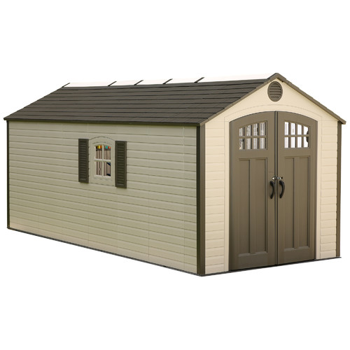 Lifetime 8 ft. W x 17 ft. 6 in. D Plastic Storage Shed