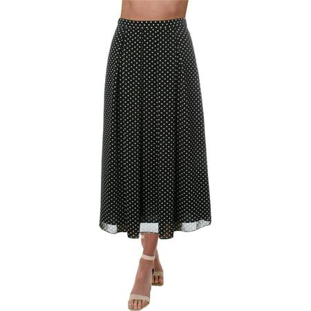 Anne Klein Womens Chiffon Polka Dot A-Line Skirt Bodice Chiffon Skirt