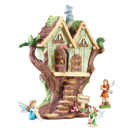 Fairy House Garden Decoration, Brown (Halloween Fairy Garden)