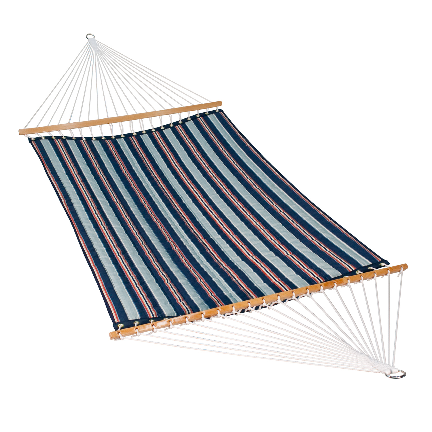 """82"""" x 55"""" Blue and Red Stripe Patterned Kingston Hammock"""