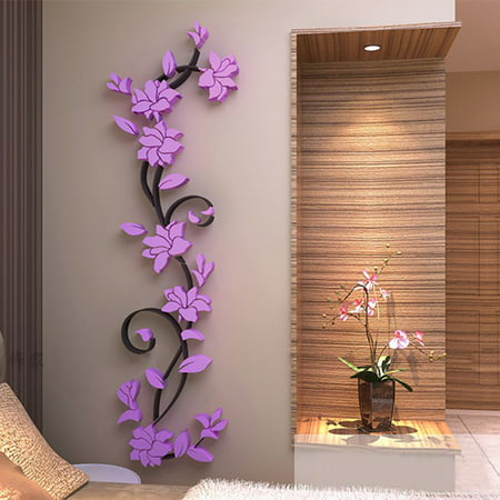 diy 3d crystal arcylic wall stickers modern removable wall art