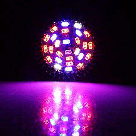 Qiilu Usine Led élèvent l'ampoule, Usine Led élèvent la lumière, Spectre complet E27 Led élèvent l'ampoule de la lampe de croissance pour la fleur de plante hydroponique bricolage - image 2 de 8