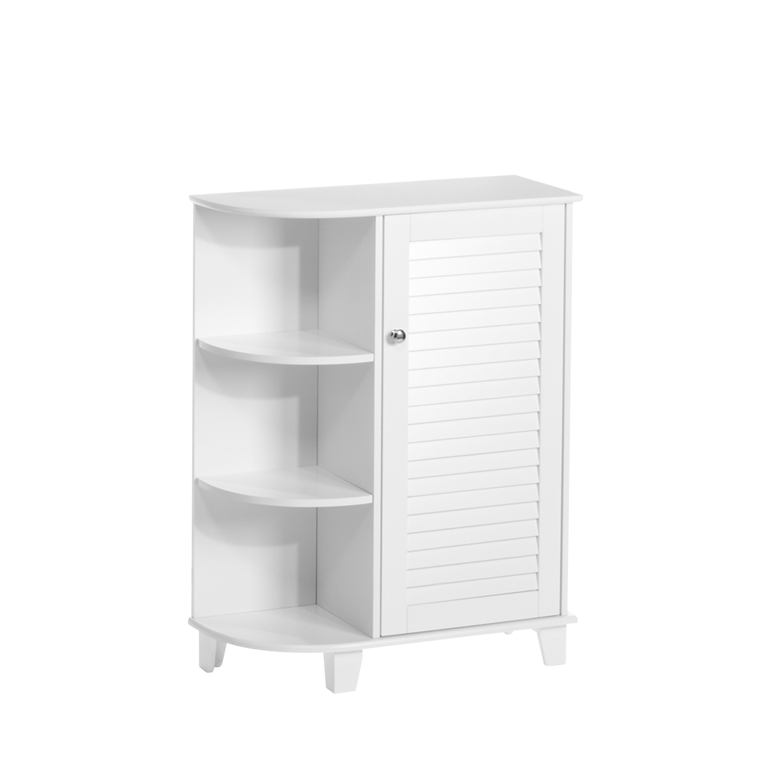 Gentil RiverRidge Home Ellsworth Collection   Floor Cabinet With Side Shelves    White